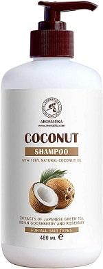 Champú de coco para hidratación