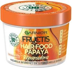 Garnier Fructis Hair Food Mascarilla Capilar 3 en 1 Papaya
