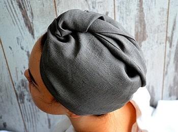 Toalla seca pelo de lino hecha a mano